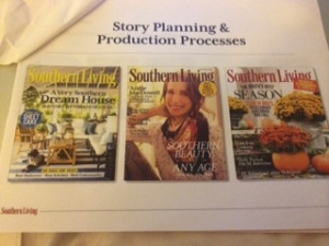 A slide from her presentation to accompany the topic of Story Planning & Production.
